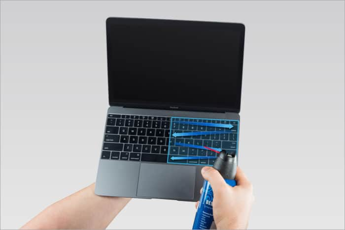 Cleaning Keyboard With Compressed Air Can