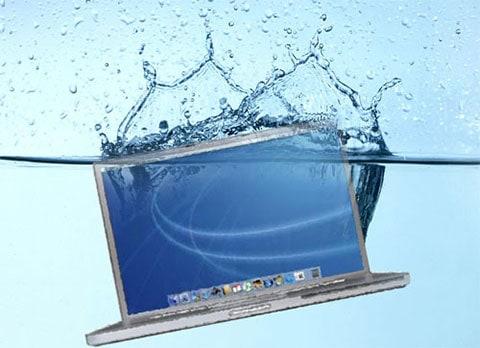 MacBook after the water adventure