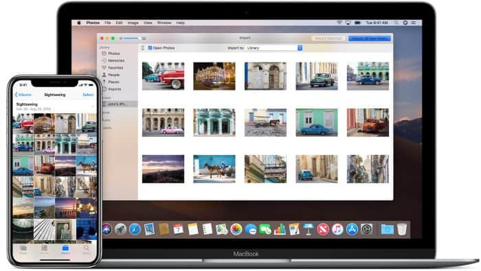 how to download pictures from iphone to mac