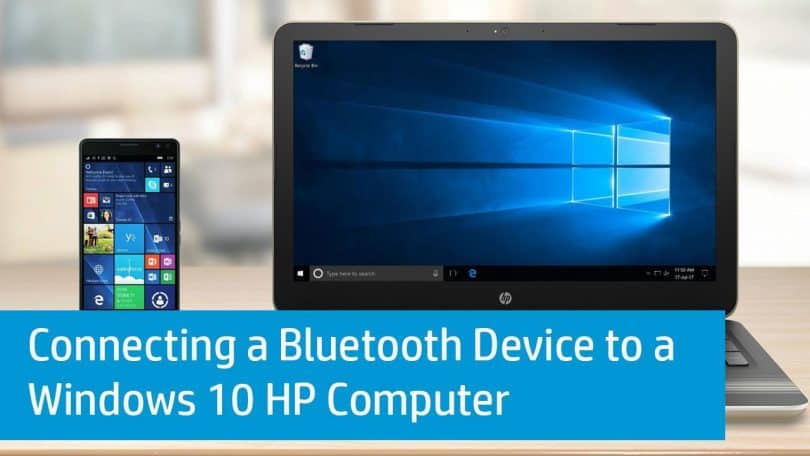 how to connect bluetooth headphones to hp laptop windows 10