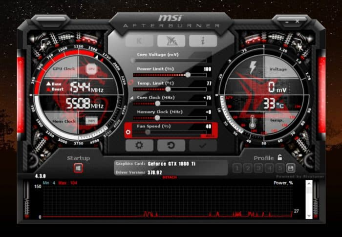 MSI afterburner software