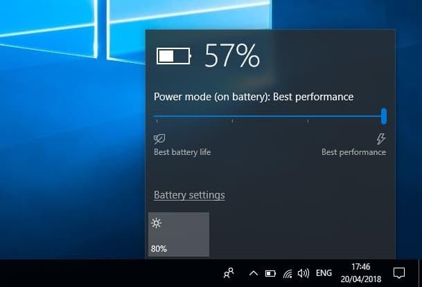 performance option on power mode
