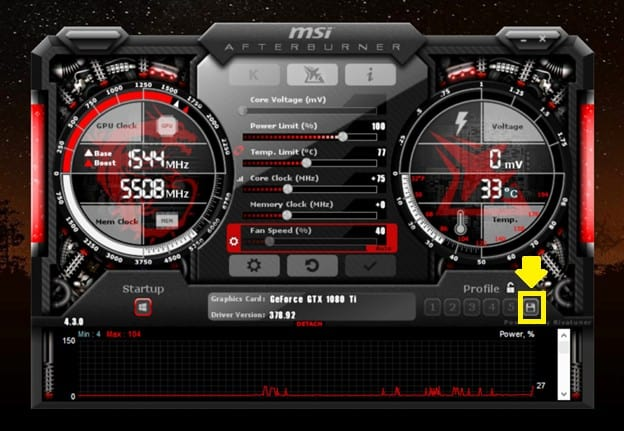 How to overclock the GPU 10