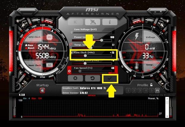 How to overclock the GPU 9