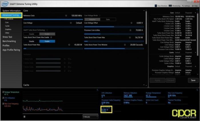 using Intel Extreme Tuning Utility 3